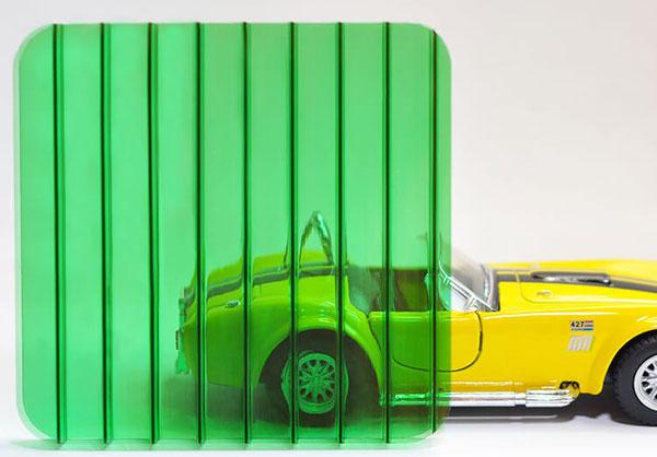Поликарбонат сотовый 10мм зеленый OSCAR Сербия